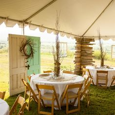 Rustic Tented Wedding Dress It Up With Old Window And Doors