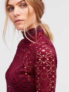 Maritza Veer || FP INTIMATELY High-Neck Julie Long Sleeve Mock-Neck Layering Top (Blackberry)