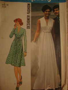 I'm not sure if I like the dress, or just the look of these old pattern covers. Either way.