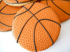 Oh Sugar Events - basketball cookies Fancy Cookies, Iced Cookies, Cut Out Cookies, Cute Cookies, Yummy Cookies, Cupcake Cookies, Sugar Cookies, Cookies Et Biscuits, Cupcakes