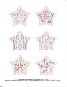 "~""Christmas Star Ornaments""~ Pg 3/4"