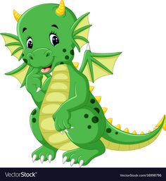 "Buy the royalty-free Stock vector ""Vector illustration of Cute baby dragon cartoon"" online ✓ All rights included ✓ High resolution vector file for print. Cartoon Cartoon, Cartoon Dragon, Dinosaur Images, Dinosaur Art, Cute Fantasy Creatures, Dinosaur Coloring, Baby Dinosaurs, Mini Canvas Art, Cute Dragons"