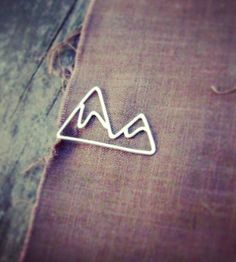 Mountain Sterling Silver Tie Clip | Let the stud in your life embrace his inner mountain man with ... | Tie Clips
