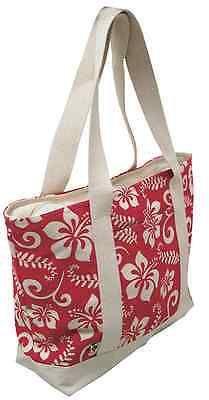 Hawaiian Aloha Canvas Beach Black Tote Hawaii Shop Bag Handbag Travel Large NIB
