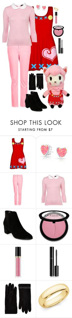 """""""Reese // Animal Crossing"""" by canadian-necromancer ❤ liked on Polyvore featuring Bling Jewelry, Topshop, Franco Sarto, Sephora Collection, Revlon, Chanel, Accessorize, animalcrossing and Reese"""