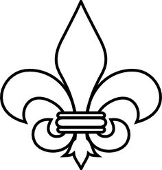Fleur De Lis Outline clip art download. A huge range of ideas here for stencils