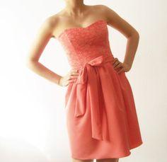 Coral Love  Bridesmaids dress coral bridesmaid dress by dhela, $135.00