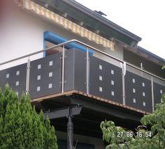 Anbaubalkone. Balkongelaender aus Holz, Aluminium, Kunststoff, Edelstahl