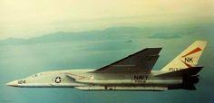 USN RA-5C Vigilante RVAH-12 aboard the aircraft carrier USS Constellation (CVA-64) over Vietnam c. 1967.