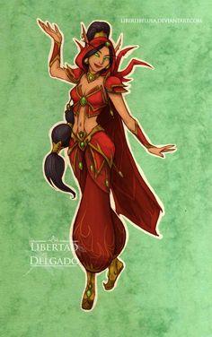 Jasmine as a Blood Elf Fire Mage : Disney Princesses Redesigned as 'World of Warcraft' Characters Disney Pixar, Disney Fan Art, Disney And Dreamworks, Disney Love, Disney Magic, Disney Characters, Evil Disney, Disney Stuff, Disney Princess Drawings