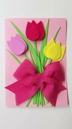 Mothers Day Crafts For Kids, Animal Crafts For Kids, Easter Crafts For Kids, Diy For Kids, Easy Felt Crafts, Craft Stick Crafts, Handmade Crafts, Diy And Crafts, Christmas Card Crafts
