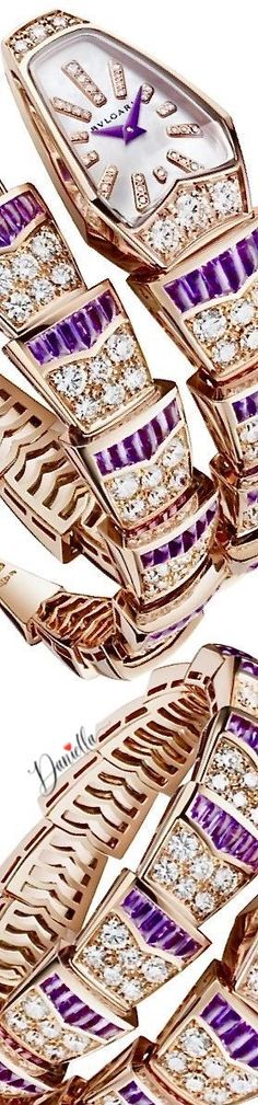 BVLGARI is famous for its glamorous gemstone jewelry, luxury watches, perfumes and leather goods. Bvlgari Accessories, Italian Jewelry, Purple Amethyst, Jewel Tones, Deep Purple, Fine Jewelry, Jewellery, Gemstone Jewelry, Lavender