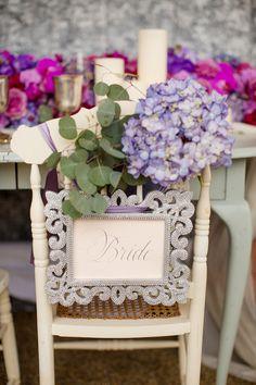 floral chair back detail | Katelyn James Photography - Bridal Musings Wedding Blog