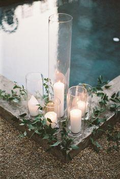 Stunning greenery and candle wedding decor | Photography: Simply Sarah - http://simplysarah.me/