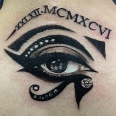 Eye of Ra with roman numerals.