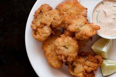 This is a classic recipe for fried oysters, which uses a mixture corn meal, flour and cracker crumbs. The oysters are creamy on the inside and crispy on the outside.   Combine the corn meal, flour, parsley, salt, pepper, cracker crumbs and mix well. Dredge the oysters in the mixture and refrigerate for 30 minutes. […]