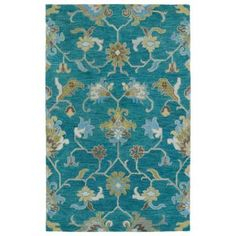 Kaleen Helena Turquoise 8 ft. x 10 ft. Area Rug - 3209-78 810 - The Home Depot