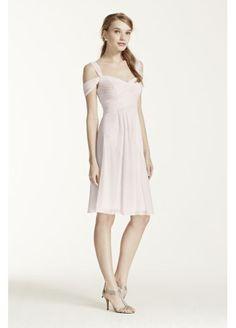 Short Mesh Dress with Split Sleeves W10479