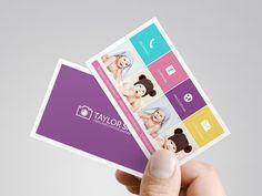 Vorgefertigte Fotografie-Visitenkarte - Custom Fotograf vorgefertigte Visitenkarte, bedruckbare Foto-Visitenkarten, individuelle Visitenkart...