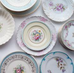 Pretty Shabby Plates by such pretty things, via Flickr