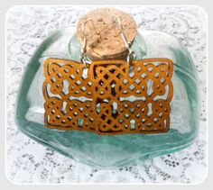 Celtic knot wooden earringswith silver by CarmenHandCrafts on Etsy, €5.00