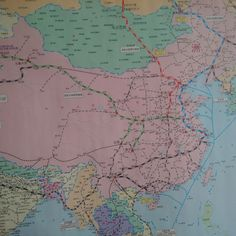 China Railway map of existing and prospective trans-Eurasia rail routes. Image: Wade Shepard.
