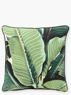 Green Limited Edition Banana Leaf Martinique Pillow Kate Spade New York (in the Beverly Hills hotel's iconic martinique wallpaper) Tropical Fabric, Tropical Style, Tropical Decor, Tropical Interior, Tropical Colors, Tropical Design, Original Banana, Hawaiian Decor, Beverly Hills Hotel