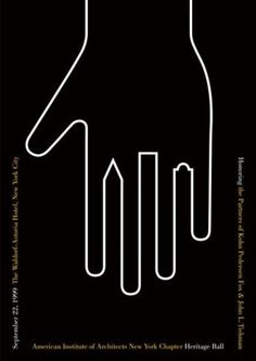 poster for the AIA heritage ball by Pentagram (1999)
