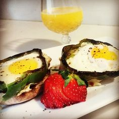 """We can handle any of your #catering needs!  #Breakfast or #brunch of an open faced #egg sandwich in seared pepper rings on toasted English muffins and…"""