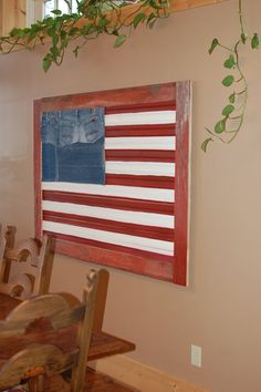 Independence Day SALE//American Flag Wall Art by thelakenest,