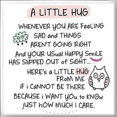 Inspired Words Magnet - A Little Hug Hugs And Kisses Quotes, Hug Quotes, Kissing Quotes, Life Quotes, Funny Quotes, Morning Inspirational Quotes, Good Morning Quotes, Special Friend Quotes, Friend Poems