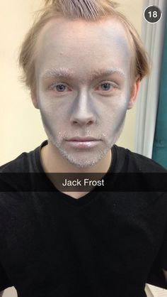 Jack Frost stage makeup Fx Makeup, Makeup Inspo, Narnia, Jack Frost, Hair Looks, Barber, Stage, Spirit, Ice