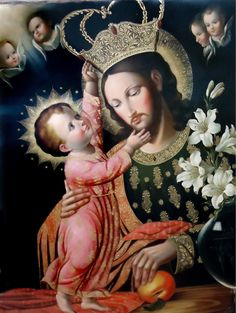 The Cuzco School (Peru)  —  St. Joseph and Child Jesus   (1206×1600)