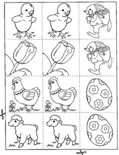 Pasen- activiteiten Memory 2 Perception, Kindergarten, Memories, Drawings, Crafts, Needlepoint, Egg As Food, Make Your Own, Crafting