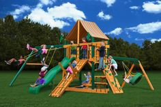 Gorilla Playsets Frontier Supreme WG Wooden Swing Set from NJ Swingsets