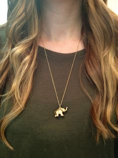 Vintage Elephant Necklace by elladolce on Etsy, $26.00
