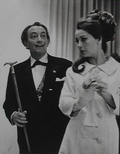 With Ultra Violet at the Huntington Hartford Museum for the opening of the Dali exhibition there, 1969. (Photo Vladimir Sladon)