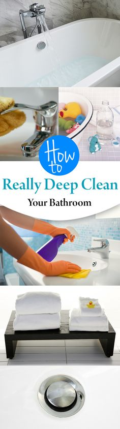 How to Really Deep Clean Your Bathroom      #bathroomcleaning #cleaningtips http://www.cleanerscambridge.com/