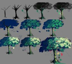 Tutorial How  I make the tree by Closz.deviantart.com on @DeviantArt