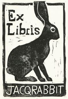 Jacquie's Sketchbook: Ex Libris Lagomorph