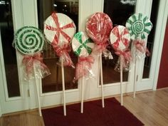 Lollies for Candy Land outdoor christmas decorations.