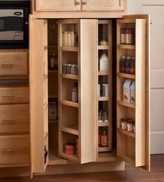 Storage Solutions Details - Multi-Storage Pantry - KraftMaid - This is the pantry we had growing up - about counter depth with LOTS of space