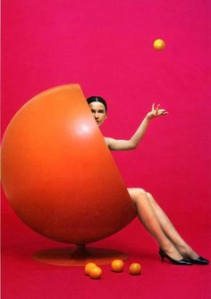 'Ball Chair' designed by Eero Aarnio and first produced by Asko of Finland in 1963.