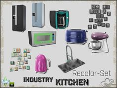 Sims 4 CC's - The Best: Industry Kitchen Recolor Set by BuffSumm