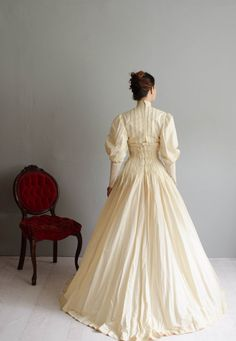 Early 1900s Wedding Gown Victorian By Concettascloset