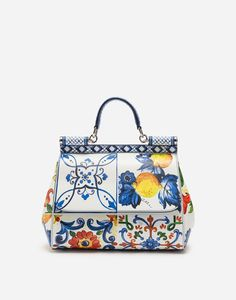 MEDIUM SICILY BAG IN PRINTED DAUPHINE CALFSKIN Sicily e61a2c78bb2
