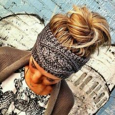 chic bun paired with great head warmer