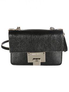 JIMMY CHOO Jimmy Choo Black Mini Cross Body Bag. #jimmychoo #bags #shoulder bags #leather #