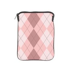 Pink Argyle iPad Sleeve
