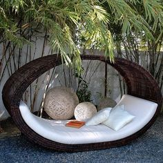 Sampon Outdoor Wicker Pod - outdoor sofas - chicago - Home Infatuation